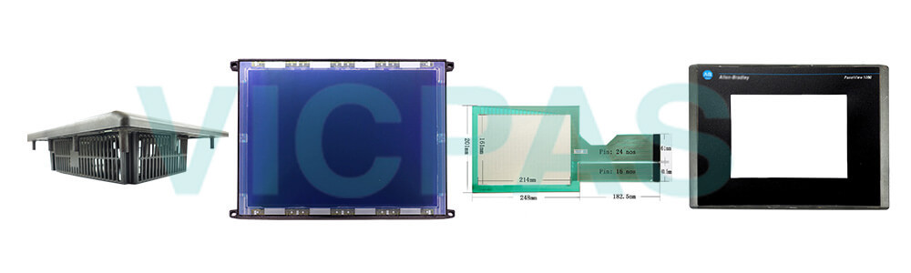 2711-T10C10 PanelView 1000 Touch Screen Panel Protective Film Front Overlay LCD Display Plastic Case Cover Repair Replacement