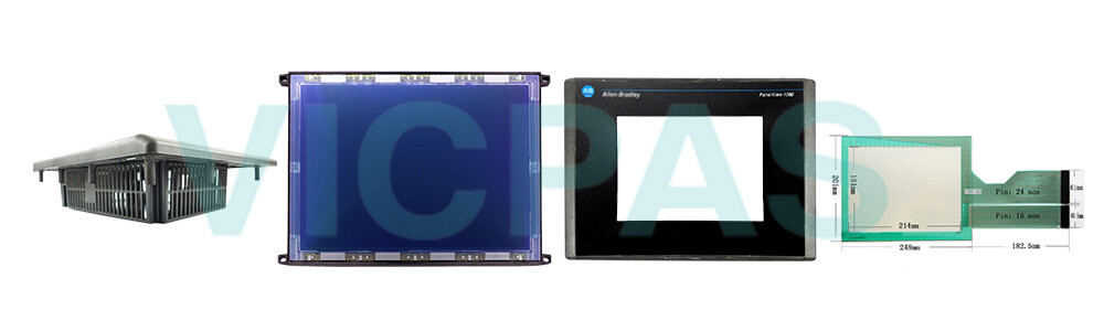 2711-T10C14L1 PanelView 1000 Touch Screen Panel Protective Film Front Overlay LCD Display Plastic Case Cover Repair Replacement