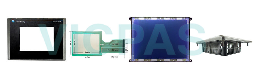 2711-T10C15 PanelView 1000 Touch Screen Panel Protective Film Front Overlay LCD Display Plastic Case Cover Repair Replacement
