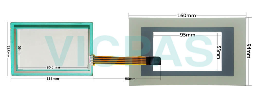 ESA Touchscreen Terminal VT155W VT155W00000 Membrane Keyboard Repair Replacement