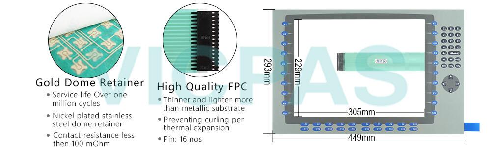 2711P-B15C4A9 Panelview Plus 6 Membrane keypad siwtch  Repair Replacement