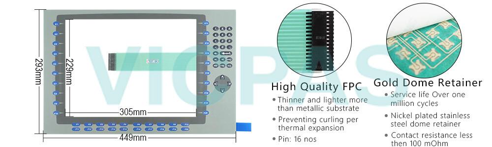 2711P-B15C4D8 Panelview Plus 6 Membrane keypad siwtch  Repair Replacement