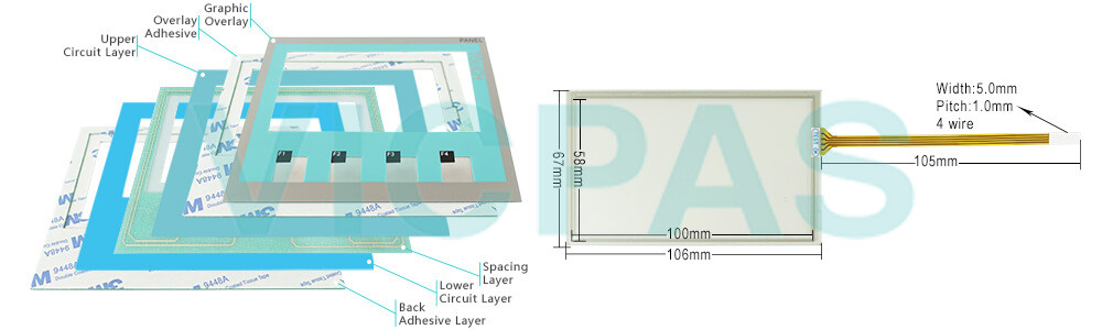 6AG1642-0BD01-2AX0 Siemens SIMATIC HMI TP177 4 Touch Screen Panel, Membrane Keypad, Plastic shell and LCD Display Repair Replacement
