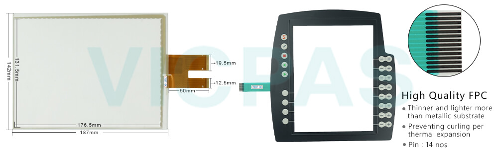 keypad keyboard Details about  /For KUKA KRC4 00-189-002 KR C4 00-189-002 Touch screen panel