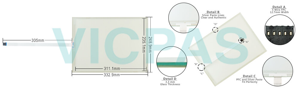 91-02517-000/02517000 Touch Screen Panel glass Repair