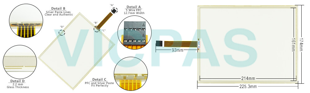 0285400A 1071.0078 touch screen panel repair