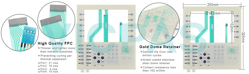 telemecanique TXBTF024510E TXBTF024410E membrane keypad touchscreen