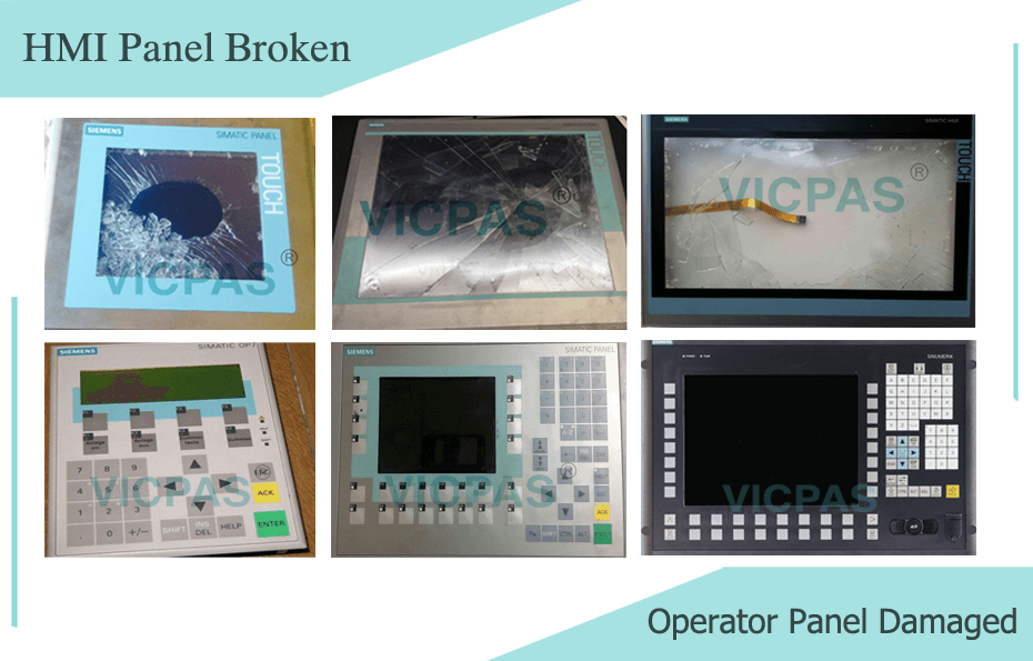 Siemens simatic HMI & Operator panel broken