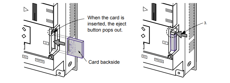 What is the tip of mounting and dismounting the UG330H-SS4 CF Card?