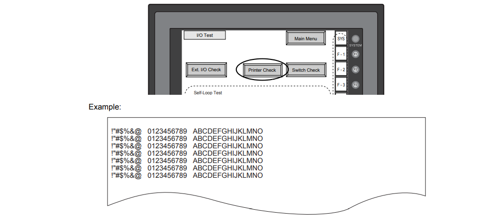 How to check V710iT V710iTD Print?