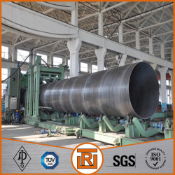 china supplier q235 carbon spiral welded steel pipe