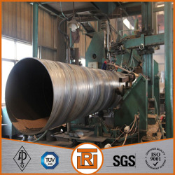 SSAW spiral round welded steel pipe used for building material