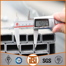 Galvanized Mild Metal Square Steel Tubing Size