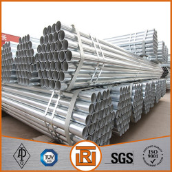 MS carbon ERW welded round pre galvanised steel tube