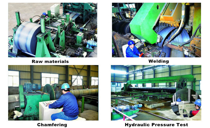 spiral welded pipe production