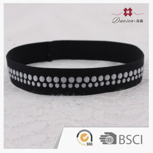 Unisex non slip sport rubber elastic headbands with silicon dots for basketball