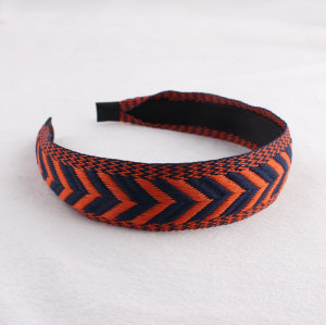 Classical retro style printed ribbon hair band for women
