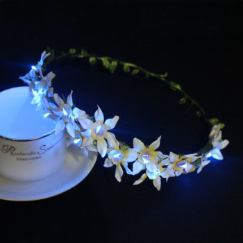 There color changing daffodil LED flowering crown light up
