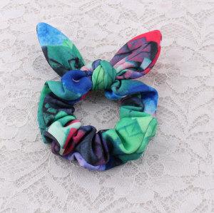 Multigraient youthful girl bunny ear hair tie