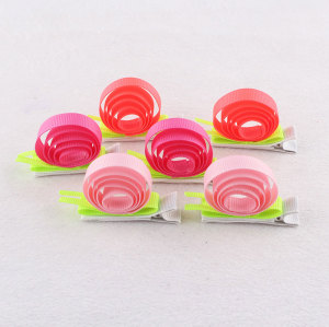 Color ribbon girl snail barrette animal hair clip for kids