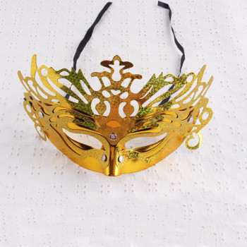 Fancy masquerade party mask glitter gold plastic masquerade mask