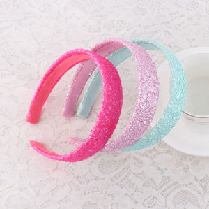Colors girl glitter hair band with three color
