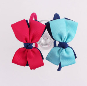 Newest colors Grosgrain ribbon bow hair band for children