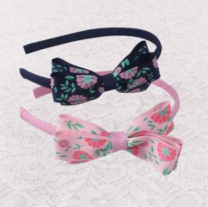 Printable grosgrain floral bow ribbon alice band for girl