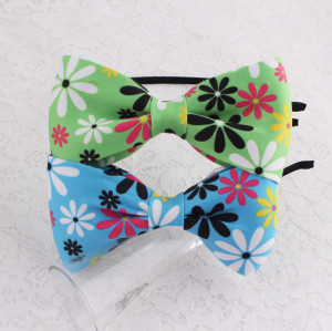 Popular floral large bow hair band for girl