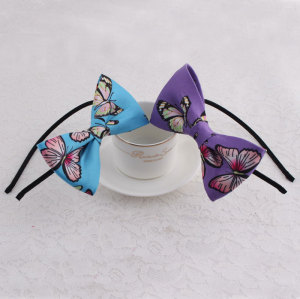 Printable butterfly large bow hair band for girls