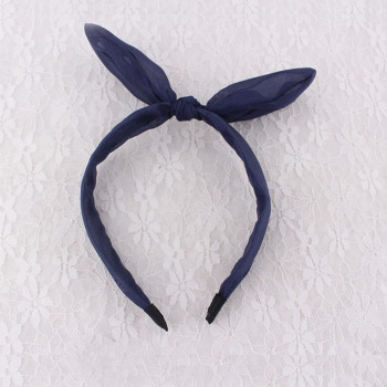 Chiffon rabbit ear knot hair band wholesale