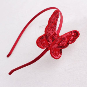 Newest red felt butterfly headband for toddler girl