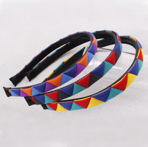 Fashion toothed plastic splicing triangle hair band for girl