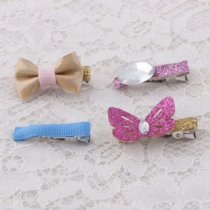 Lovely girl glitter mini butterfly hair clips set wholesale