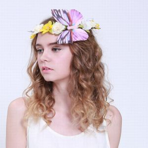 Big butterfly flower crown headband for child