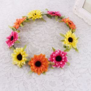 Bright colours daisy flower headband supplier