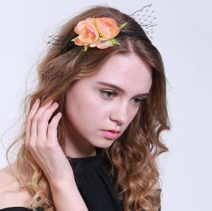 Party/Gift/Photo Props rose flower alice band with veil