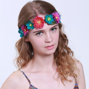 Fancy purple daisy flower crown headband