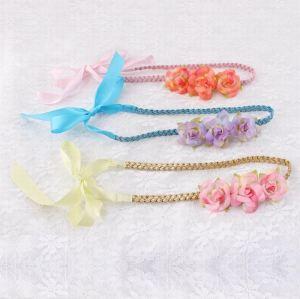 Handmade rose flower braided headband