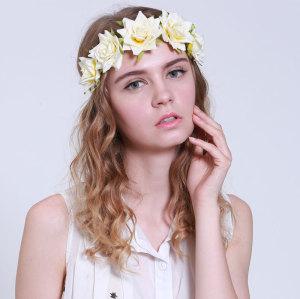 Jasmine rose flower headband wholesale supplies