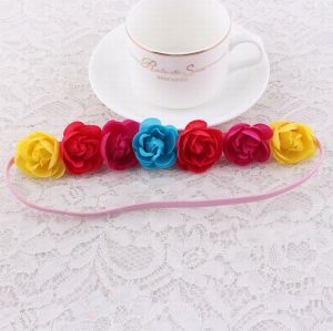 Rose flower headbands for children