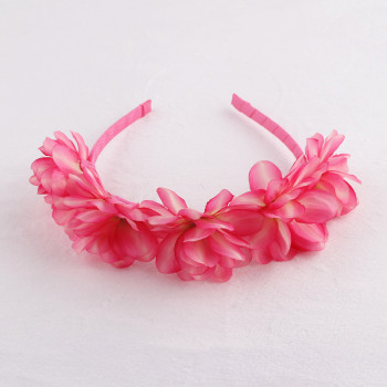 New item colourful silk flower hair hoop pin flower alice band for kids