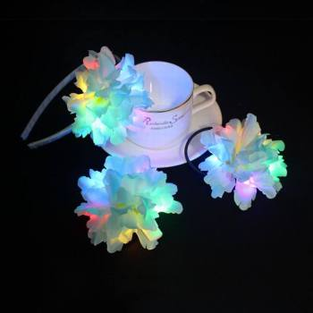 LED Light up Flower hair band set for Festivals