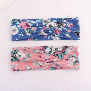 Sport floral printed headband for girl