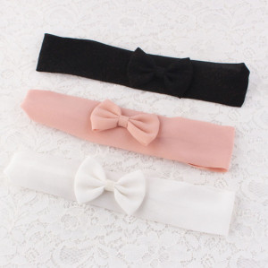 Chiffon bow headband for girls