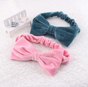 Wholesale velvet bow headband