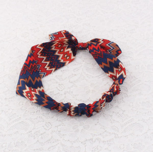 Chiffon yoga wavy stripe printed headband