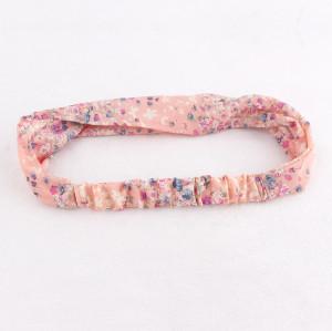 Peach pastel chiffon yoga printed headband