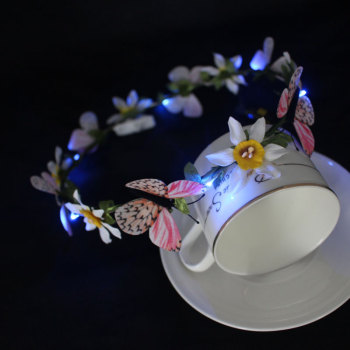 Orchid LED light up flower crown with there color changing