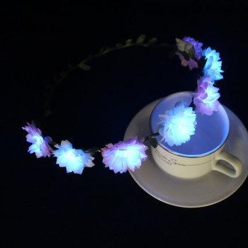 Custom design daisy LED light up flower crown